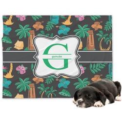 Hawaiian Masks Minky Dog Blanket - Large  (Personalized)