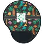 Hawaiian Masks Mouse Pad with Wrist Support