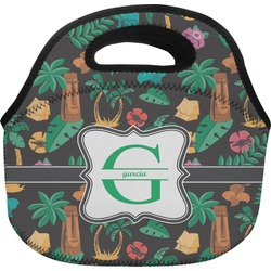 Hawaiian Masks Lunch Bag (Personalized)