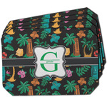 Hawaiian Masks Dining Table Mat - Octagon w/ Name and Initial