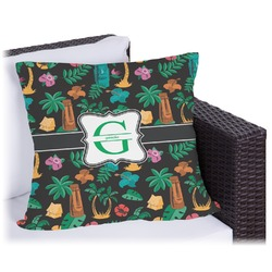 Hawaiian Masks Outdoor Pillow (Personalized)