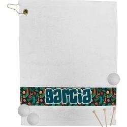 Hawaiian Masks Golf Towel (Personalized)