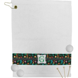 Hawaiian Masks Golf Towel (Personalized)