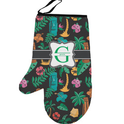 Hawaiian Masks Left Oven Mitt (Personalized)