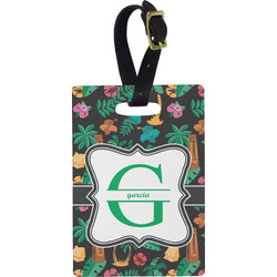 Hawaiian Masks Rectangular Luggage Tag (Personalized)