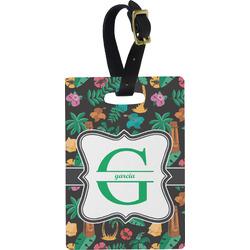 Hawaiian Masks Rectangular Luggage Tag (Personalized)