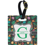 Hawaiian Masks Square Luggage Tag (Personalized)
