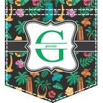 Hawaiian Masks Iron On Faux Pocket (Personalized)
