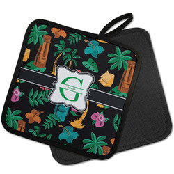 Hawaiian Masks Pot Holder w/ Name and Initial