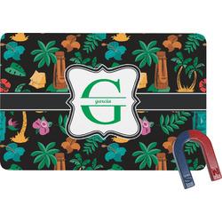 Hawaiian Masks Rectangular Fridge Magnet (Personalized)