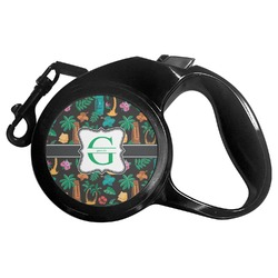 Hawaiian Masks Retractable Dog Leash - Multiple Sizes (Personalized)