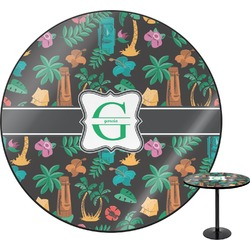 Hawaiian Masks Round Table (Personalized)