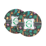 Hawaiian Masks Sandstone Car Coasters (Personalized)