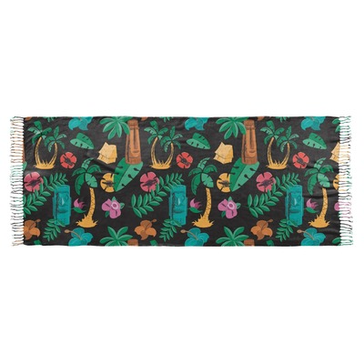Hawaiian Masks Faux Pashmina Scarf (Personalized)