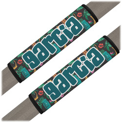 Hawaiian Masks Seat Belt Covers (Set of 2) (Personalized)