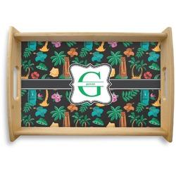Hawaiian Masks Natural Wooden Tray (Personalized)
