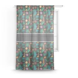 Hawaiian Masks Sheer Curtains (Personalized)