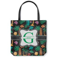 Hawaiian Masks Canvas Tote Bag (Personalized)