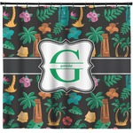 Hawaiian Masks Shower Curtain (Personalized)