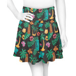 Hawaiian Masks Skater Skirt (Personalized)