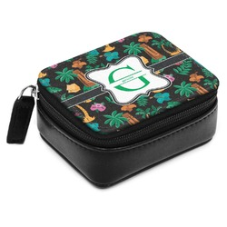 Hawaiian Masks Small Leatherette Travel Pill Case (Personalized)