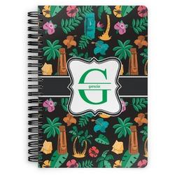 Hawaiian Masks Spiral Notebook (Personalized)