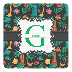 Hawaiian Masks Square Decal - Custom Size (Personalized)