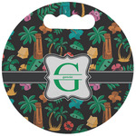 Hawaiian Masks Stadium Cushion (Round) (Personalized)