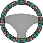 Hawaiian Masks Steering Wheel Cover (Personalized)