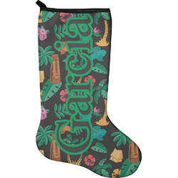 Hawaiian Masks Christmas Stocking - Neoprene (Personalized)