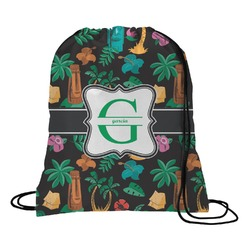 Hawaiian Masks Drawstring Backpack (Personalized)