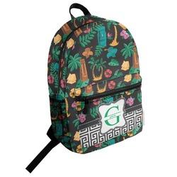 Hawaiian Masks Student Backpack (Personalized)