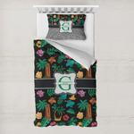 Hawaiian Masks Toddler Bedding w/ Name and Initial