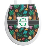 Hawaiian Masks Toilet Seat Decal (Personalized)
