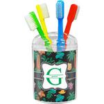 Hawaiian Masks Toothbrush Holder (Personalized)