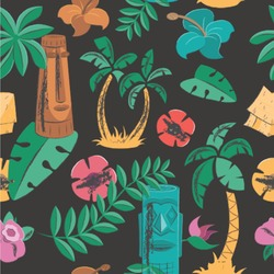 Hawaiian Masks Wallpaper & Surface Covering