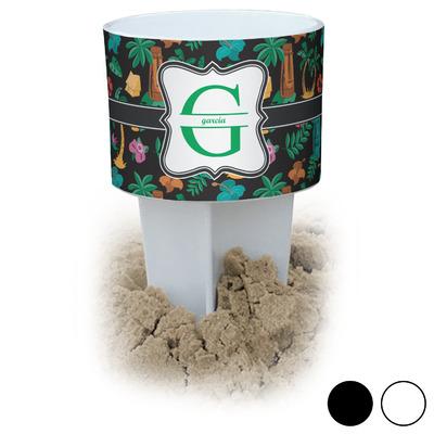 Hawaiian Masks Beach Spiker Drink Holder (Personalized)