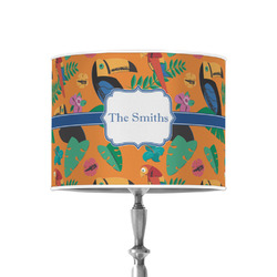 """Toucans 8"""" Drum Lamp Shade - Poly-film (Personalized)"""