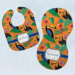 Toucans Baby Bib & Burp Set w/ Name or Text