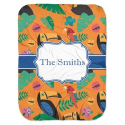 Toucans Baby Swaddling Blanket (Personalized)