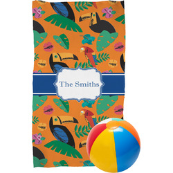 Toucans Beach Towel (Personalized)