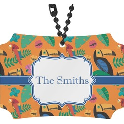 Toucans Rear View Mirror Ornament (Personalized)