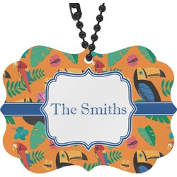 Toucans Rear View Mirror Charm (Personalized)