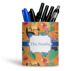 Toucans Ceramic Pen Holder