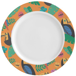 Toucans Ceramic Dinner Plates (Set of 4) (Personalized)