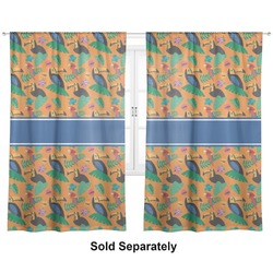 "Toucans Curtains - 56""x80"" Panels - Lined (2 Panels Per Set) (Personalized)"