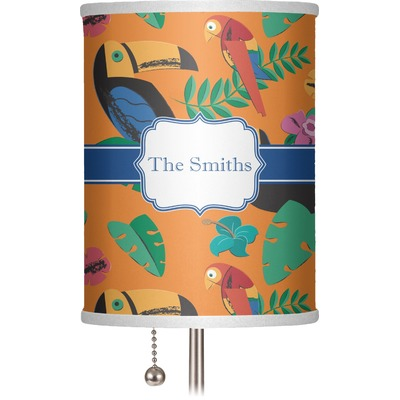 """Toucans 7"""" Drum Lamp Shade (Personalized)"""
