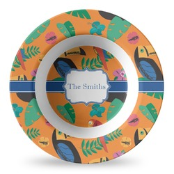 Toucans Plastic Bowl - Microwave Safe - Composite Polymer (Personalized)