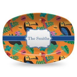 Toucans Plastic Platter - Microwave & Oven Safe Composite Polymer (Personalized)