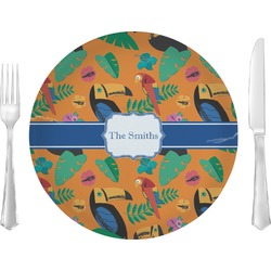 "Toucans 10"" Glass Lunch / Dinner Plates - Single or Set (Personalized)"